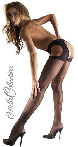Feine Sex-Strumpfhose in schwarz von Cottelli
