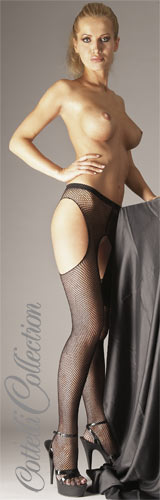 Sex-Strumpfhose aus Netzmaterial von Cottelli in schwarz