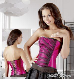 Pinke Corsage mit schwarzem Tüll-0